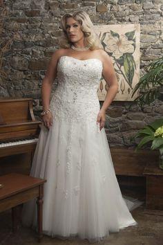 Callista 4190 Empire Lace Plus Size Wedding Dress