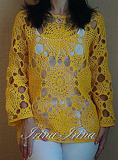 Crochet Tunic Pattern, Crochet Cardigan, Crochet Lace, Crochet Stitches, Crochet Patterns, Crochet Tops, Beautiful Crochet, Crochet Crafts, Crochet Clothes