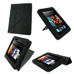 #awesome rooCASE Origami Dual-View (Black) Vegan Leather Folio Case Cover for Amazon Kindle Fire HD 7 Inch Tablet  - Support Landscape / Portrait / Typing Stand / Auto Sleep and WakeS   - http://wp.me/p291tj-dL