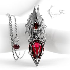 VYCTHULS - silver, red quartz by LUNARIEEN.deviantart.com on @DeviantArt