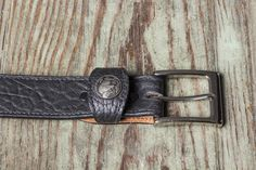 Buffalo Leather Nickel Keeper Belt - Made in USA - Free Shipping - Sable Black