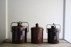 vintage crockery canisters