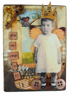 Aceo Card Fairy Aceo Card  Vintage Children Art by eclecticmoon, $14.50