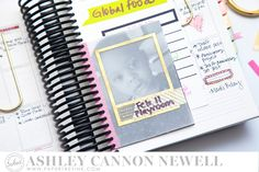 Planner by Ashley Cannon Newell for Papertrey Ink (Moments Inked Memory Planner System - February 2015) #AshleyCannonNewell #PapertreyInk #planner #momentsinked #plannernerd