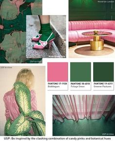 Pink and Green- colour palette inspiration for the home.