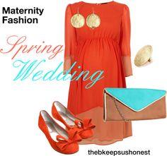 Maternity Fashion - Spring Wedding