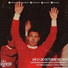 #IndependienteHistorico #RubénMarinoNavarro debuta en #Independiente