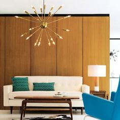 sputnik chandelier, there is so much to live about this living room