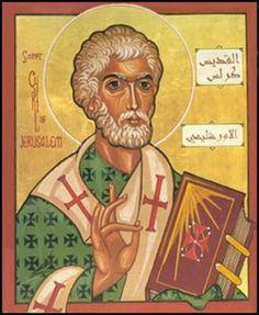San Cirilo de Jerusalen Doctor de la Iglesia 18 de marzo