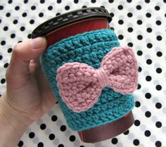 Reusable Coffee Cozy Sleeve / Crochet Coffee Cozy by MetsyMade, $8.00