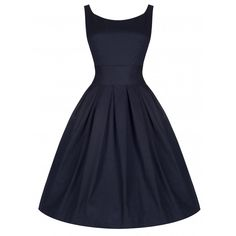 A classic colour - intense midnight blue - for a chic style wear the Lindy Bop Lana Swing Dress. Vintage Inspired Fashion, Vintage Inspired Dresses, Vintage Fashion, Robe Swing, Swing Dress, Mode D'inspiration Vintage, Fit N Flare Dress, Vintage 1950s Dresses, Pretty Dresses
