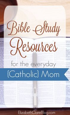 What are good resources to help a Catholic mom get the most out of her Bible study time?  Books, study aids, Bibles and more!