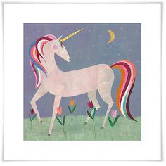 Lámina de unicornio de cuento de hadas