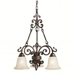 Chandelier 2678-24, Collection Wilton, Style Transition, 3 ampoules Chandelier, Ceiling Lights, Lighting, Collection, Home Decor, Style, Ceiling, Swag, Candelabra