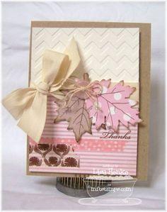MFT-pink leaves by lisahenke - Cards and Paper Crafts at Splitcoaststampers