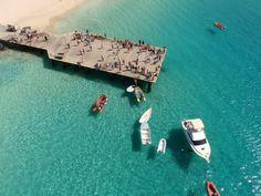 www.kaapverdie.nl - Pier Santa Maria, Sal vanuit de lucht. Kaapverdie, Kaapverdische eilanden, Cape Verde
