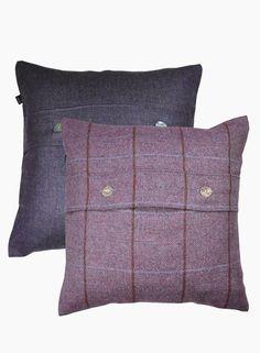 Pair of in Ben Ghlas and Rothiemurchus Cushions - Cushions - Homeware Tartan, Cushions, 18th, Pairs, Throw Pillows, Living Room, Purple, Home Decor, Toss Pillows