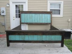 Farmhouse Bed | Do It Yourself Home Projects from Ana White: somewhere on the site are plans for queen sized