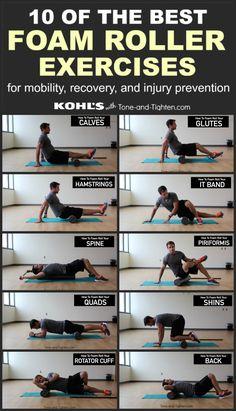 best foam roller exercises pinterest