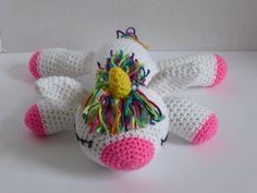 Rainbow Unicorn, Amigurumi Unicorn, Unicorn Stuffed Animal, Amigurumi Unicorn, Crochet Unicorn, Sleeping Unicorn Plush, Unicorn Plush Toy by AlexsGiftShop on Etsy