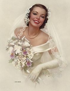 """""""June Bride"""" by Zoe Mozert. This is my favourite pic ever, absolutely beautiful !!"""