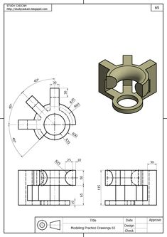 99475925 Image by A Ben on Drawings Mechanical Engineering Design, Mechanical Design, Drawing Practice, Drawing Skills, Autocad Isometric Drawing, 3d Drawing Techniques, Solidworks Tutorial, Interesting Drawings, 3d Cnc
