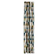 Spear Shower Curtain from designer Trine Andersen for Denmark's Ferm Living. Elegant Shower Curtains, Colorful Shower Curtain, Ferm Living Wallpaper, Shower Liner, Textiles, Modern Home Furniture, Wall Decor Stickers, Bathroom, Bath Shower