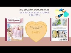 Crochet Pattern Book Big Book of Baby Afghans 29 Crochet Baby Afghan Pro... Baby Afghan Patterns, Baby Afghan Crochet, Baby Afghans, Crochet Patterns, Pattern Books, New Baby Products, Big, Projects, Log Projects