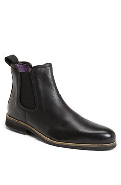 $199, Black Leather Chelsea Boots: Scm 004 Leather Chelsea Boot Black 45 Eu by Blackstone. Sold by Nordstrom. Click for more info: http://lookastic.com/men/shop_items/69407/redirect