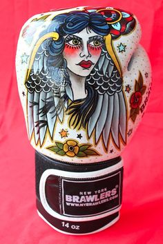 Tattoo Boxing Gloves by Sara Antoinette Martin. Cool as shit.