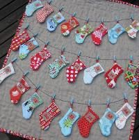 You have to see Stocking Advent Calendar on Craftsy! - Looking for sewing project inspiration? Check out Stocking Advent Calendar by member Trillium Design. Christmas Sewing, Christmas Love, Winter Christmas, Christmas Tables, Nordic Christmas, Crochet Christmas, Modern Christmas, Christmas Decor, Christmas Projects
