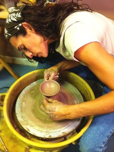 Learn how to use a pottery wheel and make something beautiful