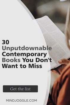 Need an unputdownable read? These contemporary fiction books on this list from Mind Joggle are great choices. The modern classic books on this list are perfect additions to your lifetime reading list, and best of all--you'll love reading them. #books #booklist #fiction #bucketlist