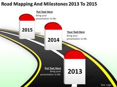 Beautiful Flat D Powerpoint Template  Timeline Design Map