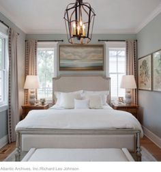 Schlafzimmer Master Bedroom - Southern Living Inspired Home at Habersham - Southern Living Beautifyi Small Master Bedroom, Master Bedroom Makeover, Master Bedroom Design, Bedroom Designs, Master Suite, Bed Designs, Bedroom Black, Beds Master Bedroom, Long Narrow Bedroom