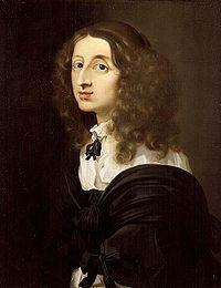 Swedish queen Drottning Kristina Kristiina (18. joulukuuta (J: 8. joulukuuta) 1626 Tukholma – 19. huhtikuuta 1689 Rooma) oli Ruotsin hallitseva kuningatar vuodesta 1632 kruunusta luopumiseensa asti 1654.  portrait by Sébastien Bourdon