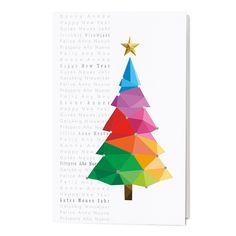 Bunte weihnachtskarte neujahr 2019 happynewyear - Wwf weihnachtskarten ...