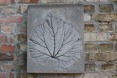 .leaf on concrete