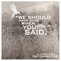 """I was wrong."" - Gale Hawthorne to Katniss Everdeen, #CatchingFire"