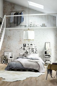 Exposed brick loft b