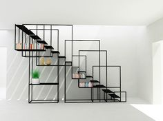 Metal stairs or a steel staircase ? It doesn't have to be an all functional metal staircase, design is a big thing too. Modern Railing, Modern Stairs, Interior Stairs, Interior Architecture, Interior Design, Modern Interior, Interior Livingroom, Staircase Railings, Staircase Design