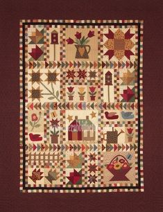 The Cottage Garden Sampler Block of the Month - only two spots left!