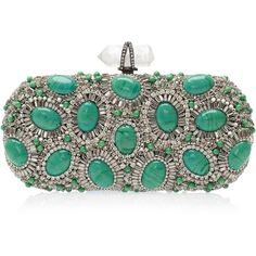 MARCHESA Crystal and Stone Clutch - Polyvore