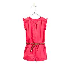 jumpsuit with braided belt - Jumpsuits - Baby girl - Kids | ZARA United States