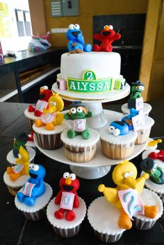 Sweet & Clay: Alyssa Big 2 ~ Sesame Streets Cake