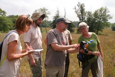Doug Taron (Director of the IL Butterfly Monitoring Network/Curator of Biology/VP of Research & Conservation at the Chicago Academy of Sciences) instructs a group at Kieselburg Forest Preserves
