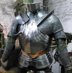 suit of armour in work