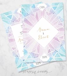 watercolour geometric triangles wedding by happychantilly on etsy see more faire part de mariage - Faire Part Mariage Etsy