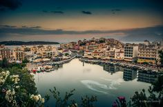 Agios Nikolaos Crete Lake Panorama What A Wonderful World, Crete, Wonders Of The World, Places Ive Been, River, Outdoor, Outdoors, Outdoor Games, The Great Outdoors