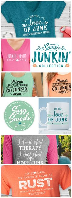 A collection for retailers of rusty junk, vendors of vintage finds, and agents of antiquities; and for lovers of all things vintage. For the love of junk: reuse those rusty buckets, repurpose grandma's outdated furniture, and rescue those roadside relics, but do it style in our super soft vintage style threads!  Show your love of repurposed furniture, rusty farmhouse antiques, flea market finds, industrial and architectural salvage, reused funky junk, recycled vintage finds, upcycled home…